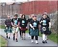 NS3978 : KiltWalkers east of Renton by Barbara Carr