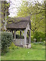 TM3989 : Lych Gate of Holy Trinity Church, Barsham by Adrian Cable