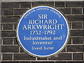 TQ3080 : Blue plaque re Sir Richard Arkwright, 8 Adam Street, WC2 by Mike Quinn