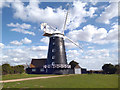 TF8343 : Burnham Overy Staithe Windmill by Des Blenkinsopp