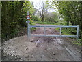 ST5858 : Vehicle barrier on Burledge Hill Byway by James Ayres