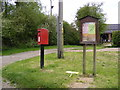 TM3884 : Becks Green Village Notice Board & Becks Green Postbox by Adrian Cable