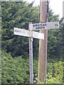 TM2998 : Roadsign on Church Road by Adrian Cable