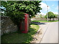 ST7115 : Stourton Caundle: red telephone box by Chris Downer
