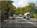 SJ7282 : Chester Road approaching Mere Crossroads by David Dixon