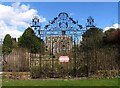 SK6405 : Scraptoft Hall Gates by Andrew Tatlow