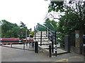 TQ3487 : Footbridge over the Lea near Clapton by Malc McDonald