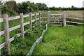 SP9942 : Gate on the footpath to Lower Shelton by Philip Jeffrey