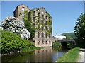 SE1619 : Woodhouse Mill and Huddersfield Broad Canal Bridge 8 (Leeds Road) by Humphrey Bolton