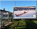 ST6270 : Zingy poster on a Bath Road billboard, Brislington, Bristol by Jaggery