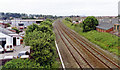 Dist:0.4km<br/>View westward, towards Llandudno, Bangor and Holyhead: ex-LNWR Chester - Holyhead main line. Nothing whatever is left of Foryd station, as it closed 5/1/31 - although it was reopened as Kinmel Bay Halt in the summer seasons of 1938 and 1939.