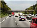 SJ9313 : Northbound M6, Moor Hall Lane Bridge by David Dixon