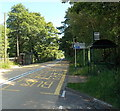 Dist:0.1km<br/>Located alongside the A4048, on bus route 56 from Tredegar to Newport (left side) and Newport to Tredegar (right side). A sign points left towards houses in Bedwellty Pits, and National Cycle Network route 46.