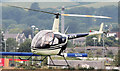 J4973 : Robinson Beta helicopter (G-BOCN), Newtownards by Albert Bridge