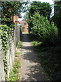 SP7625 : Footpath through to Marston Road by Philip Jeffrey