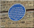 Photo of first regular high definition television service blue plaque