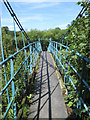SE7667 : Suspension footbridge over the Derwent by Pauline Eccles