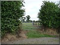 TF2673 : Double-gated field entrance near Beck Farm by Christine Johnstone