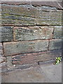 SJ4066 : OS benchmark - Chester, King Charles' tower by Richard Law