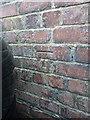 SO4593 : OS benchmark - Church Stretton, 42 Essex Road by Richard Law