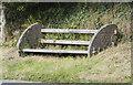 SW3927 : Roadside bench by Elizabeth Scott