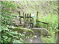 SE0127 : Gate on Hebden Royd FP35 at Foster Clough by Humphrey Bolton