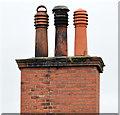 J3773 : Chimney and chimney pots, Ballyhackamore, Belfast by Albert Bridge
