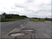 N2020 : Looking west along the R357 from the Lough Boora Parklands by Eric Jones