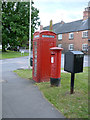 SK6013 : K6 telephone kiosk and postbox, Cossington by Alan Murray-Rust