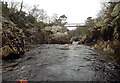 NH5092 : Footbridge below the Carron gorge by Andy Waddington