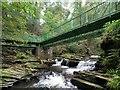 SN7104 : Footbridge in Cwm Du Glen : Week 40