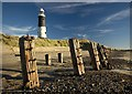 TA4011 : Spurn beach and lighthouse by Paul Harrop