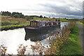 NS8679 : Narrowboat near Tamfourhill by Anne Burgess