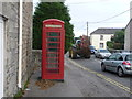 SW7634 : Mabe Burnthouse: red phone box by Chris Downer