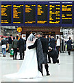 NS5865 : Bride & groom in Glasgow Central railway station : Week 43
