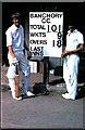 NO6896 : Banchory CC scoreboard, Burnett Park (1981) by Stanley Howe