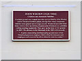 Photo of John Wisden and George Parr red plaque