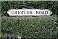 SP1391 : Chester Road cast iron street nameplate by Robin Stott