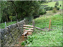 SE0023 : Stile on Hebden Royd FP91 by Humphrey Bolton