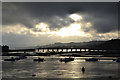 SX9372 : A break in the cloud over the Teign estuary, evening by Robin Stott
