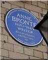 Photo of Anne Brontë blue plaque