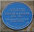 Photo of Stephen Joseph blue plaque