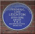 Photo of Frederic Leighton blue plaque