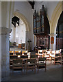 TL3761 : Dry Drayton: St Peter and St Paul - nave and organ by John Sutton
