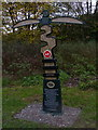 SK6010 : Sustrans cycle route marker by Mat Fascione