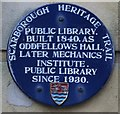Photo of Scarborough Public Library, Scarborough Mechanics Institute, and Oddfellows Hall, Scarborough blue plaque