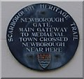 Photo of Newborough Gate blue plaque