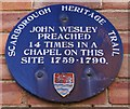 Photo of John Wesley blue plaque