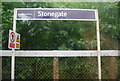 TQ6527 : Sign, Stonegate Station by N Chadwick