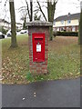 TL2863 : Pendragon Hill George VI Postbox by Adrian Cable
